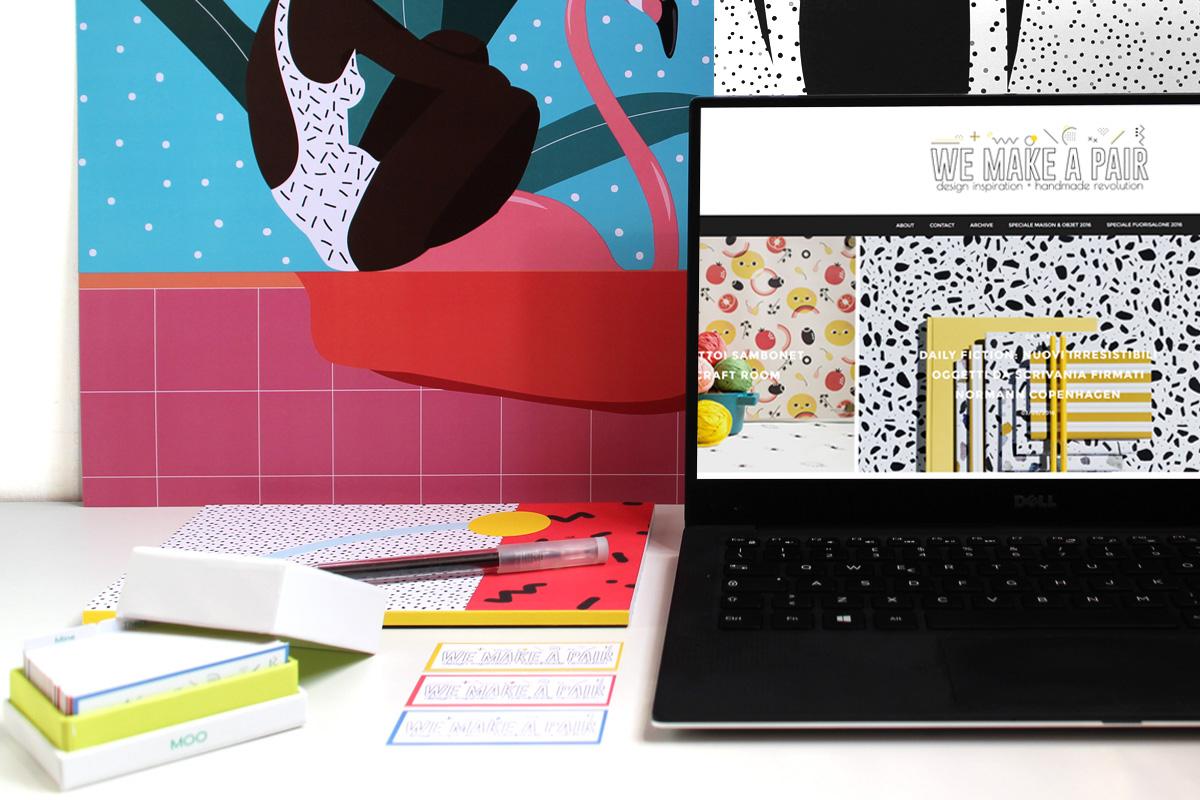 la nuova grafica del blog e i biglietti da visita di design moo