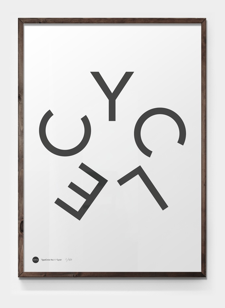 Editions of 100: Cycle poster