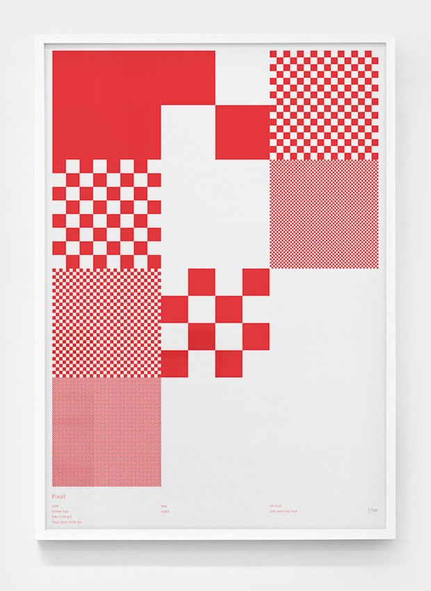 Editions of 100: Pixel poster by Greig Anderson