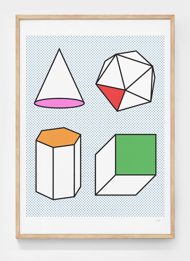 Editions of 100: Study of shapes poster by Stu Ross